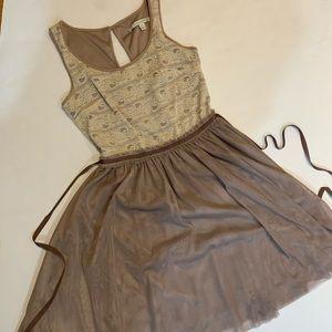 LC Lauren Conrad dress tulle/lace tanktop dress XS